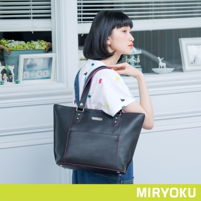 MIRYOKU-繽紛撞色系列-休閒自信托特包-共3