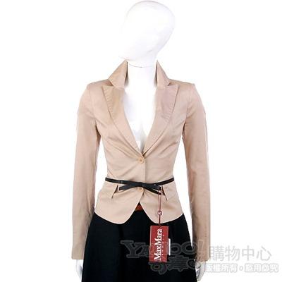 PAOLA FRAN 駝色雙釦款西裝外套(不含腰帶)