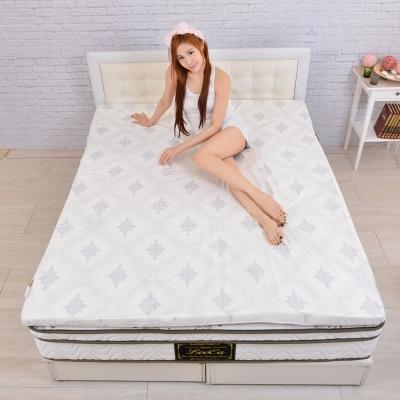 LooCa-棉柔雙布4cm純淨乳膠床墊-雙人5尺