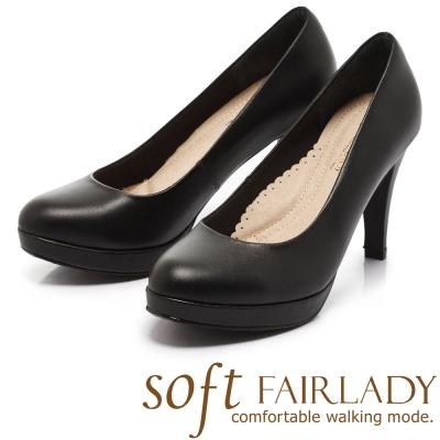Fair Lady New超級上班者聯盟1號 摩登女郎高跟鞋 黑