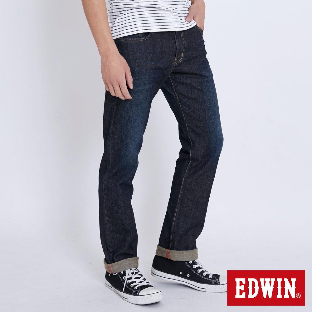 EDWIN EDGE LINE 順向複刻版中直筒牛仔褲-男-中古藍