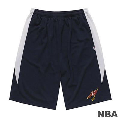 NBA-克里夫蘭騎士隊LOGO印花短褲-深藍 (男)