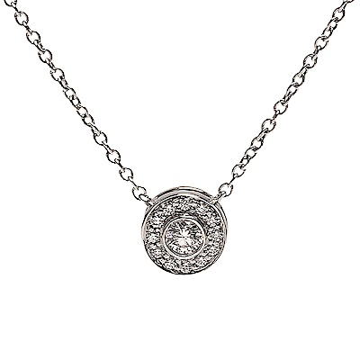 TIFFANY&Co. 經典SOLESTE系列切割真鑽鑲嵌墜飾鉑金項鍊(銀)