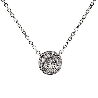 TIFFANY&Co.經典SOLESTE系列切割真鑽鑲嵌墜飾鉑金項鍊銀