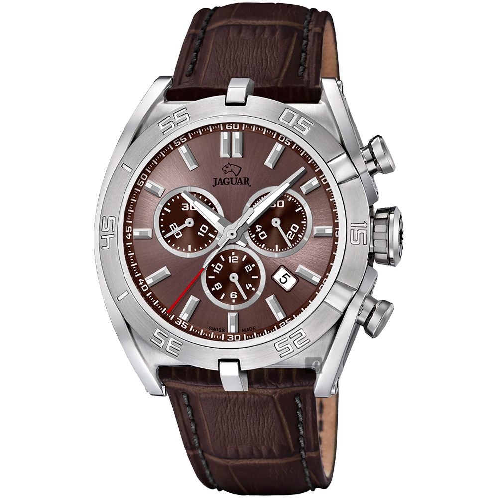 JAGUAR積架 EXECUTIVE 計時手錶-咖啡/45.8mm