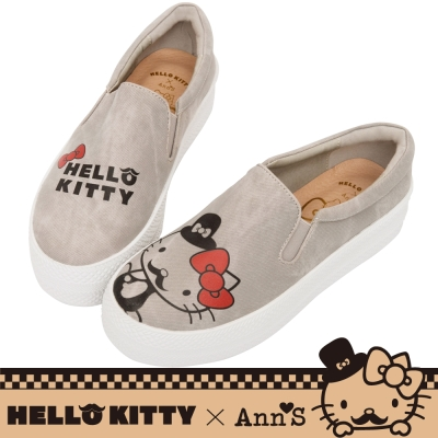 HELLO KITTY X Ann'S文青達利厚底懶人鞋-灰