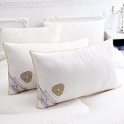 【Annabelle】特選- 100 %澳洲進口高級純綿羊毛枕一對