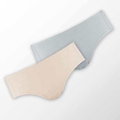 蕾黛絲-伴你一生(竹纖維)棉褲二件包(中腰)M-EL 藍/膚