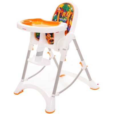 myheart 折疊式兒童安全餐椅- 卡通橘