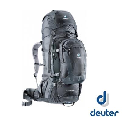 【德國 Deuter】Quantum 70+10L 三用多功能子母背包_黑/灰