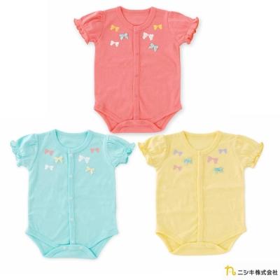 Nishiki 日本株式會社 小蝴蝶結公主短袖包屁衣