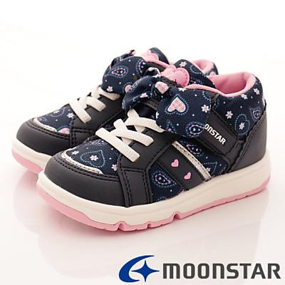 日本月星頂級童鞋 甜心機能款 FO335深藍(中小童段)HN
