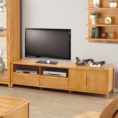 Bernice-布朗6尺實木二門二抽電視櫃/長櫃-180x42x48cm