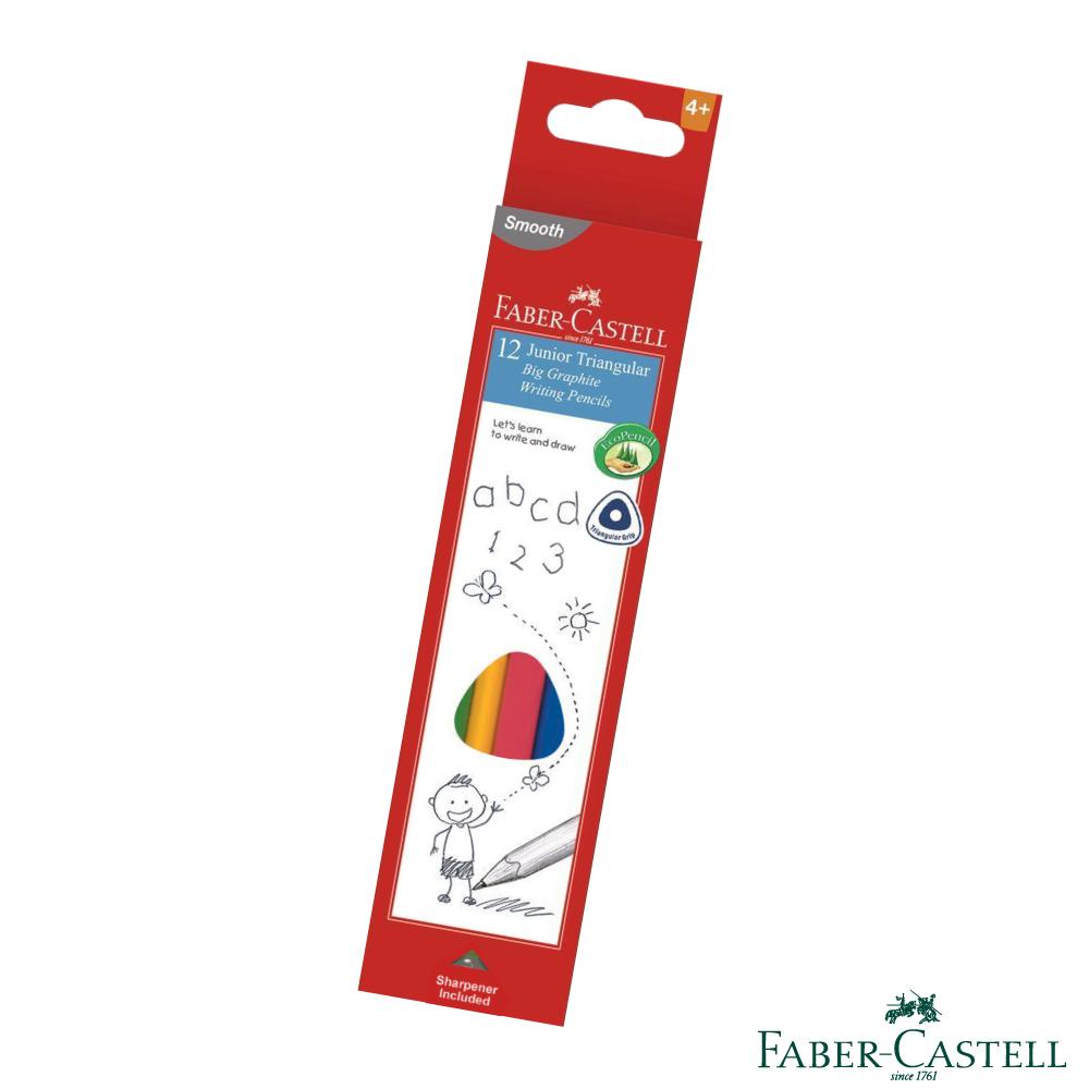 Faber-Castell 紅色系 2B大三角鉛筆 12支入