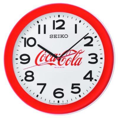 SEIKO 日本精工 可口可樂聯名 掛鐘 時鐘(QXA922R)-紅框/36.8cm