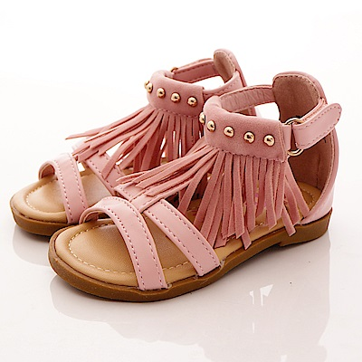 PV日系私藏~氣質流蘇涼鞋款-7307粉紅(寶寶段)T1