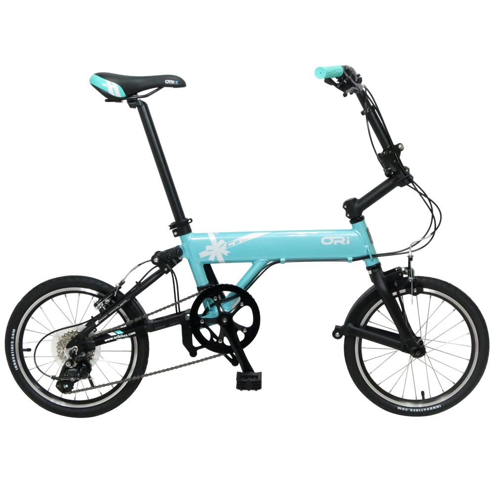 ORI C8 Angel 16吋 8速鋁合金折疊單車(不含後貨架) Tiffany薄荷藍