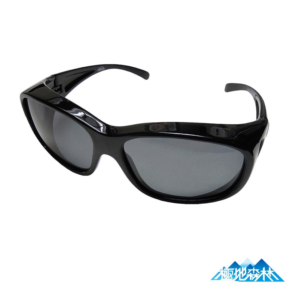 【極地森林】深灰色偏光鏡片運動太陽眼鏡(近視可用7575)