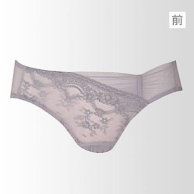 黛安芬-Premium Collection 雙晶星塋系列M-EL低腰內褲(迷霧灰)