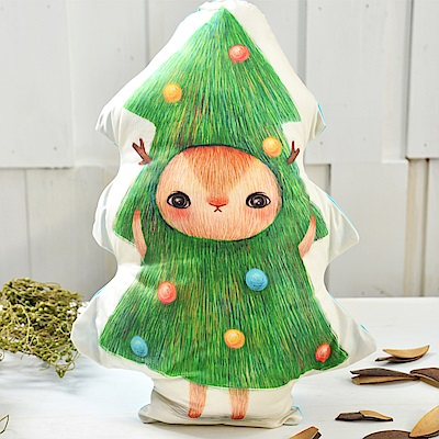 義大利Fancy Belle X furryfurry 聖誕麋鹿 數位造型抱枕