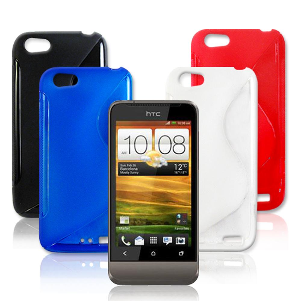 VXTRA HTC One V 高質感拼色混搭水晶套