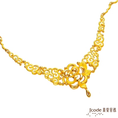 J code真愛密碼金飾 緣定金生純金項鍊 約9.9錢