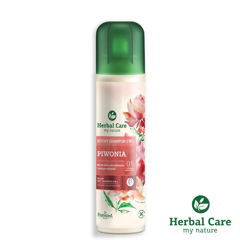 波蘭Herbal Care牡丹2合1彈潤乾洗髮噴劑(一般髮質/捲髮適用)180ml