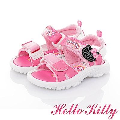 HelloKitty OREO系列 輕量減壓休閒涼鞋童鞋-桃