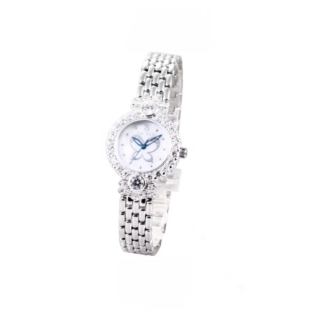 Royal Crown 蝶舞翩翩魅力晶漾鋼帶腕錶-26mm