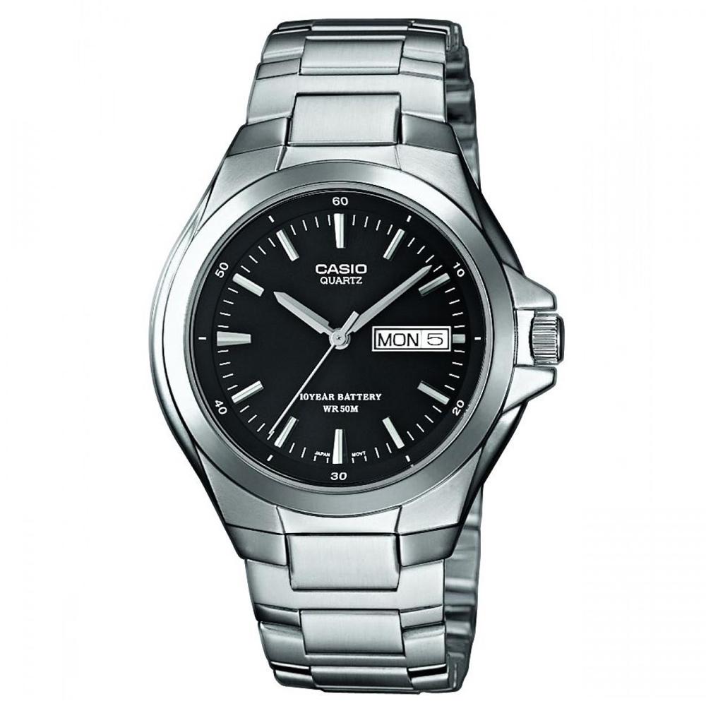 CASIO 經典復古型指針紳士錶(MTP-1228D-1A)-黑/40mm