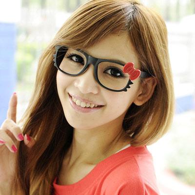 Aimee-Toff-哈囉甜心無鏡膠框眼鏡-紅
