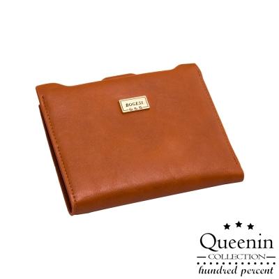 DF Queenin皮夾 - 巴黎時尚秀皮革款薄型短夾-共2色