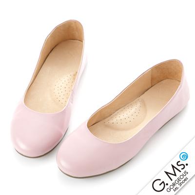 【G.Ms.】旅行女孩II‧素面全真皮可攜式軟Q娃娃鞋(附專屬鞋袋) ‧ 粉紫