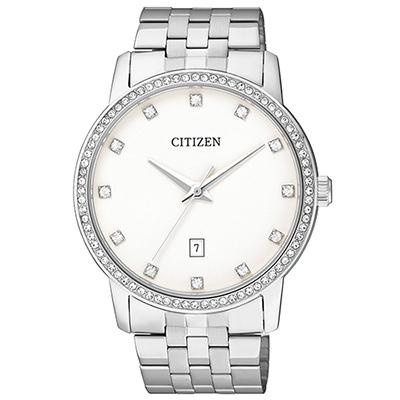 CITIZEN 簡單俐落設計男仕腕錶(BI5030-51A)-白/40mm