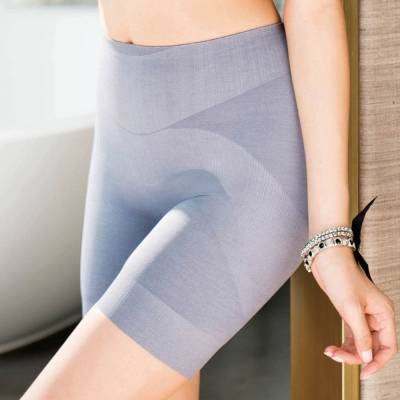 華歌爾 玫瑰果油美肌好享受64-82長褲管修飾褲(煙燻灰)