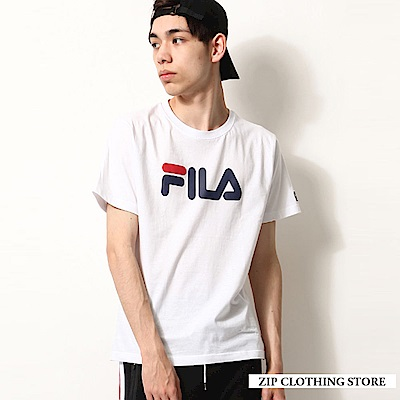 LOGO刺繡印花T恤FILA(4色) ZIP日本男裝
