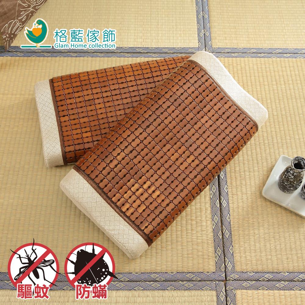 格藍傢飾 頂尖驅蚊防蹣麻將竹模型記憶枕(布繩)小-1入