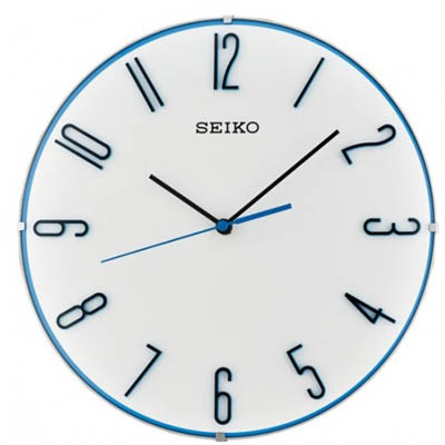 SEIKO 日本精工 滑動式秒針 靜音掛鐘 時鐘(QXA672W)-白/30cm