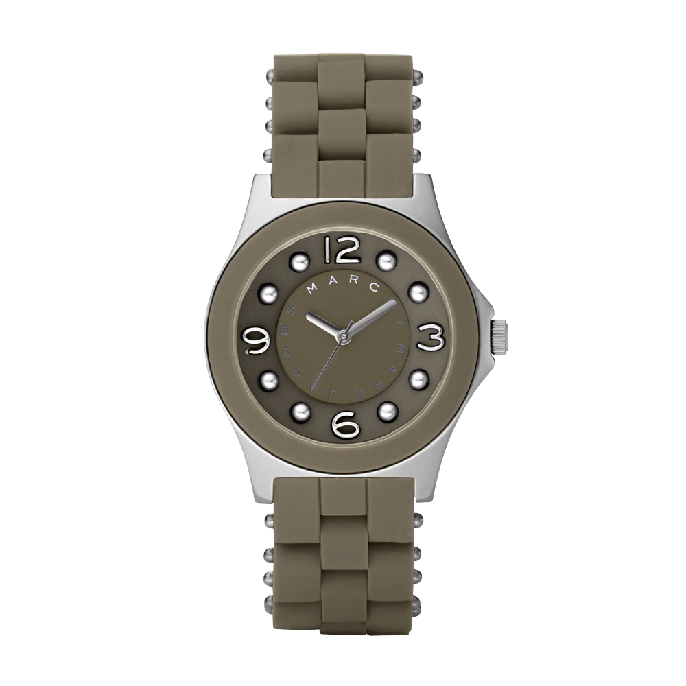 Marc Jacobs 純愛時尚玻麗女錶-可可咖/36mm