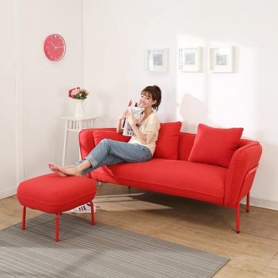 BuyJM熱情森巴三人布沙發附腳凳-免組裝