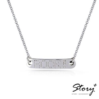 STORY故事銀飾-真愛密碼 - 訂製項鍊