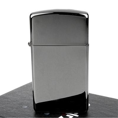 ZIPPO 美系超質感Black ice-黑冰色鏡面打火機(窄版)