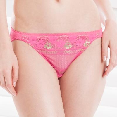 思薇爾-夏日舞伶系列M-XL低腰三角褲-芭比粉
