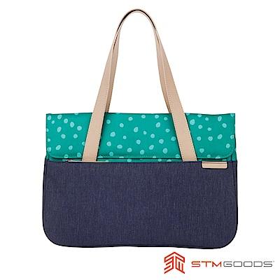 澳洲 STM Grace 15吋優雅時尚筆電托特包 - 點點綠