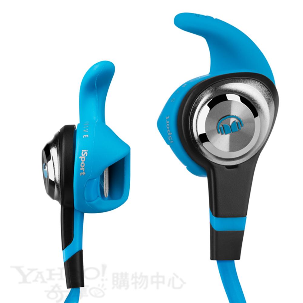 Monster 藍色 Universal線控 耳道式耳機  iSport Strive