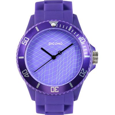 PICONO 繽紛主題 - 數字逃跑計畫系列手錶 - 紫/40mm