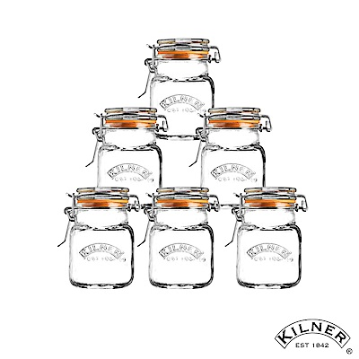 KILNER 扣式玻璃香料罐/調味罐 70ml 6入組