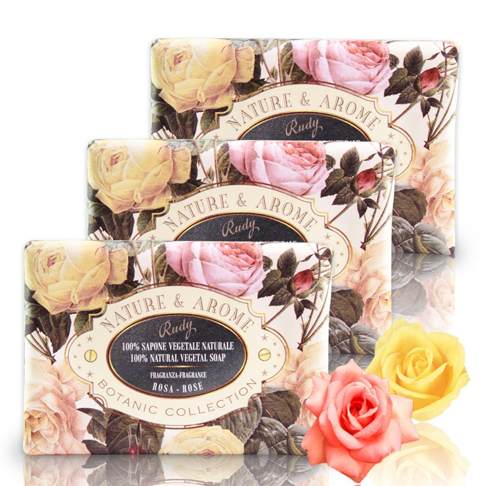 義大利N&A玫瑰花保濕香皂150g三入