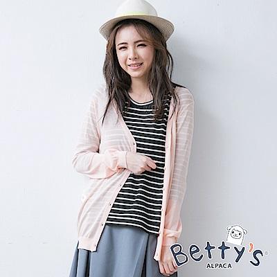 betty's貝蒂思 素色百搭針織罩衫(粉橘色)