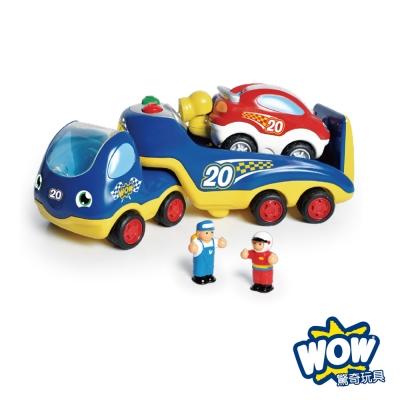 英國WOW Toys驚奇玩具賽車救援拖吊車洛可